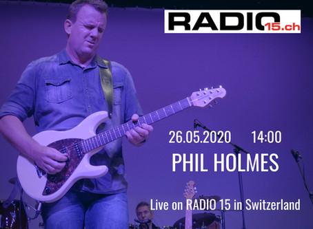 Interview at Radio 15 in Uster, Switzerland
