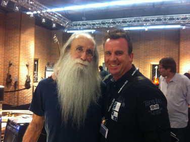 Phil mit Lee Sklar (Mike Oldfield, Phil Collins)