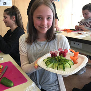 Gemüse schnitzen
