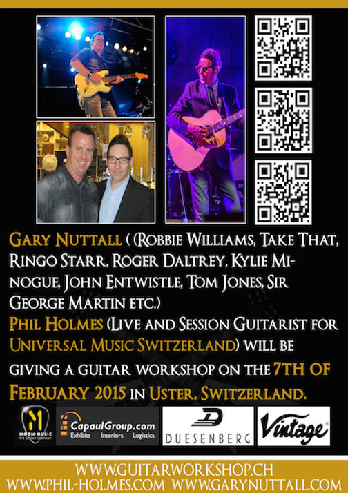 Flyer Guitar Workshop Gary Nuttall And P