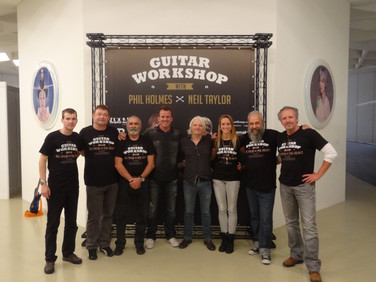 Guitar Workshop Team mit Phil Holmes und Neil Taylor