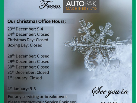 Our Christmas Office Working Hours