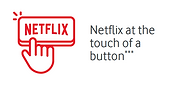 red netflix at the touch of a button icon