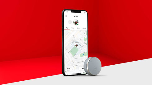 iPhone12 with Vodafone Curve GPS Tracker