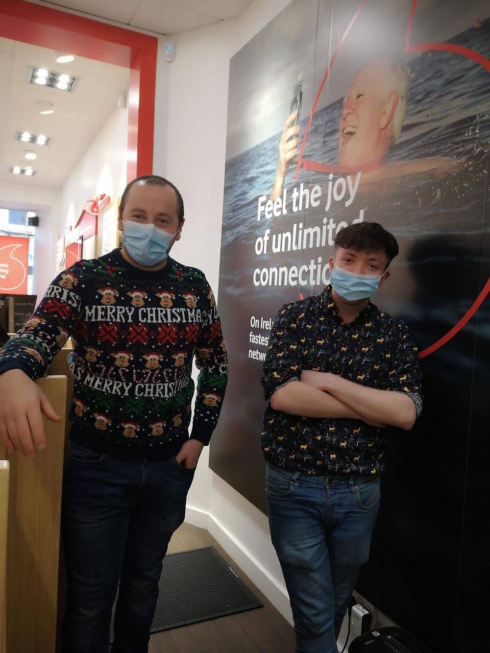The Boys in Ballina Feeling the Christmas Cheer!