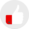 white thumbs up with red shirt cuff in grey circle icon.png