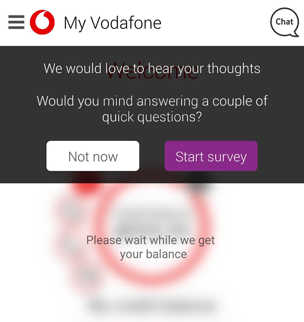 Take my Vodafone quick survey