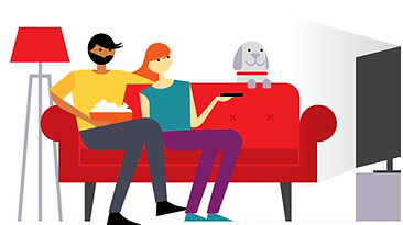 TV family scene on red couch with popcorn and grey dog graphic..png