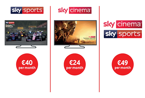 Vodafone TV Channels add ons Sky Sports Sky Cinema