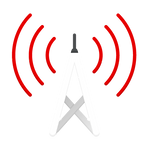 Red and grey cell tower icon.png