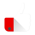 white thumbs up icon with red shirt cuff.png