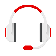 red and grey call centre headset icon.png