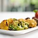 Vegetarian kebab platter, dal makhani