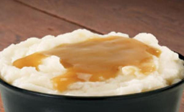 A Bowl of Mashed Potates and Gravy- Yes! this is on the menu!!!