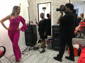 Model Shoot at Alex Provenzano Salon- Makeup by Rashida, Photos by Terrell Edmonds