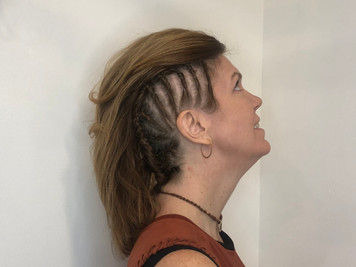Halloween Hairdo for a Viking Warrior