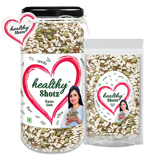Organic Seeds Combo | 4+ Organic Seeds Helps Weight Loss & Promotes Bone Health