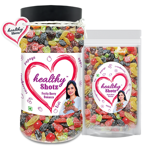 Fruity Berry Bonanza with STANDY (REFILL)   Healthy and Nutritious Snacks Munch