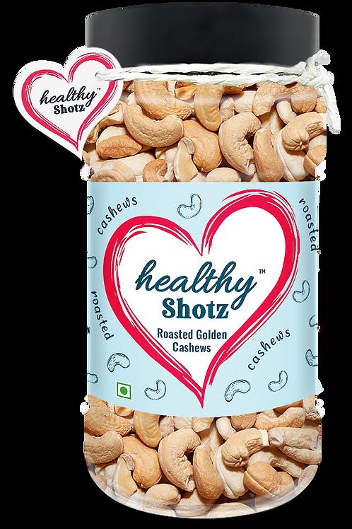Roasted Golden Cashews | 100% Natural | Immunity-Boosting Dry Fruit