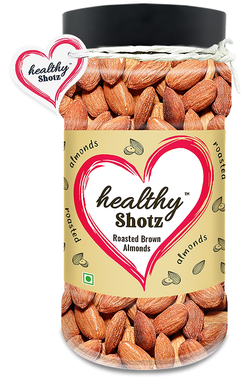 Roasted Brown Almonds   Immunity Boosting Dry Fruit   100% Natural