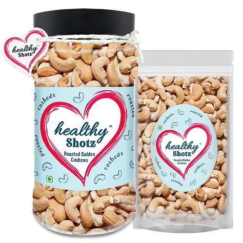 Roasted Golden Cashews Combo   100% Natural   Immunity-Boosting Dry Fruit