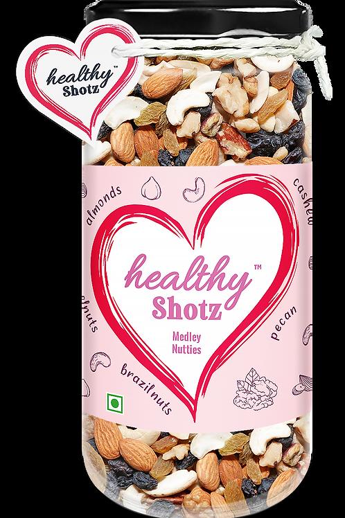 Medley Nutties | Brazil Nuts, Pista & Black Raisin Combo Mixed Seeds