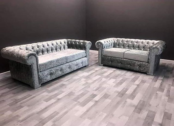 Deluxe Chesterfield 3 plus 2 sofa Set