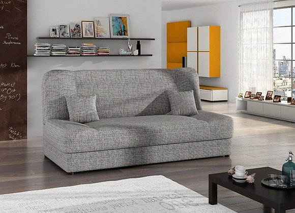 Jonas grey fabric sofa bed with storage