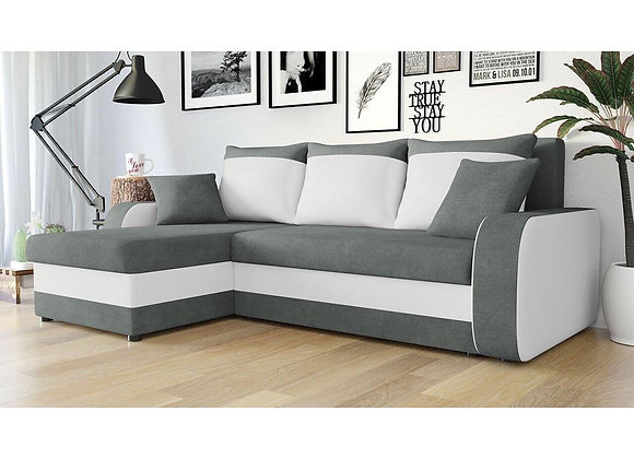 Kris Faux Leather & Fabric Sofabed with Storage