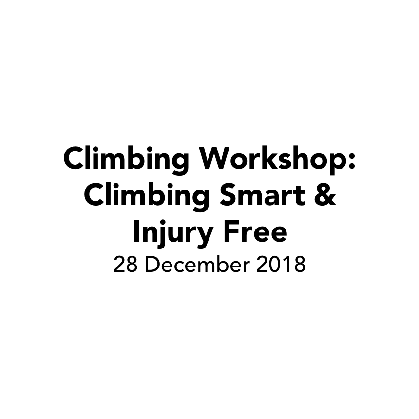 Workshop: Climbing Smart & Injury Free
