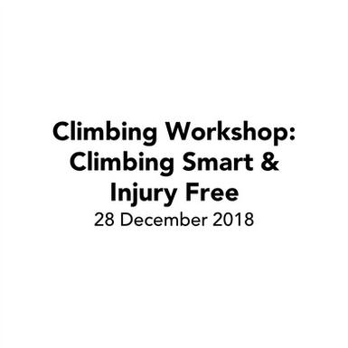 Workshop: Climbing Smart & Injury Free