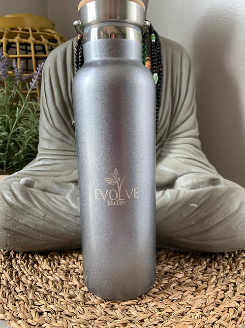 Evolve Vacuum Stainless Bottle with Wood Lid