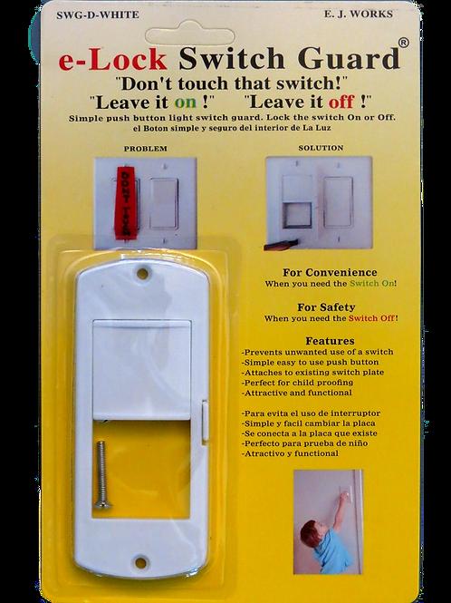 Decora e-Lock Light Switch Guard White  SWG-D-White
