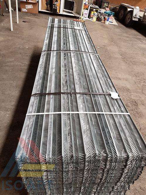 Plaque MetalRib (armature métalliques nervurés)
