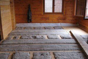 Isolation en laine de mouton sol