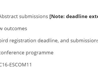 """제 16차 ICMPC (2021) Abstract Submissions 제출 기한 """"연장""""  공지"""