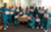CNA class graduates