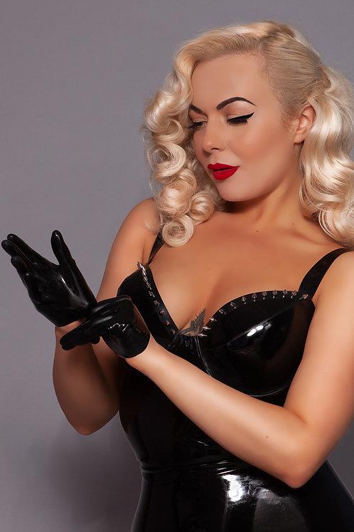 Latex Short Gloves
