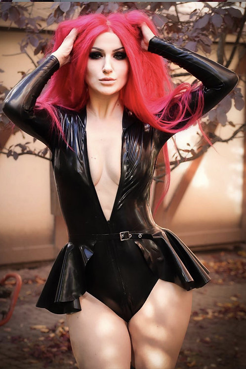 Latex Front Zip Leotard