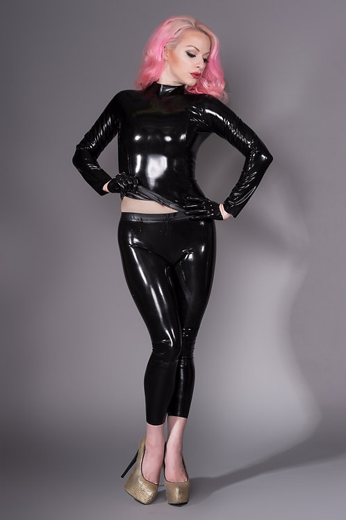 Latex High Neck Top