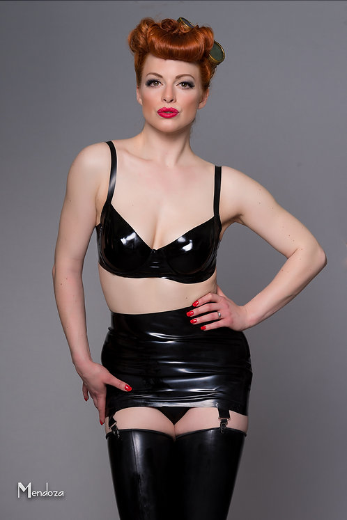 Latex Girdle Skirt