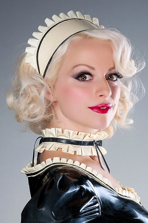 Latex French Maid Hat
