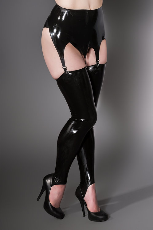 Latex Stirrup Stockings