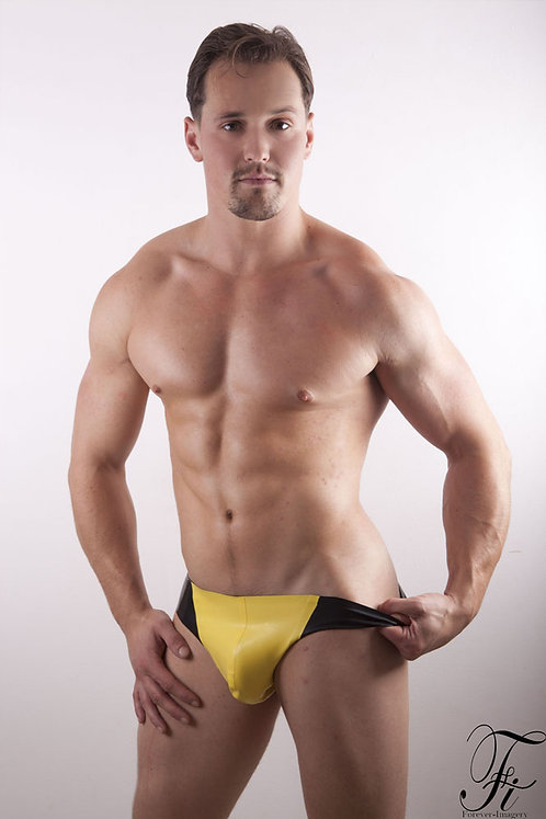 Contrast Latex Pouch Thong