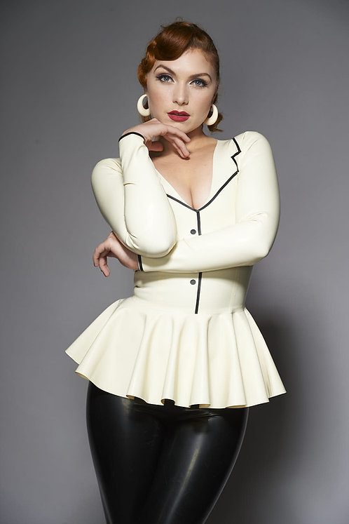 Latex Peplum Top