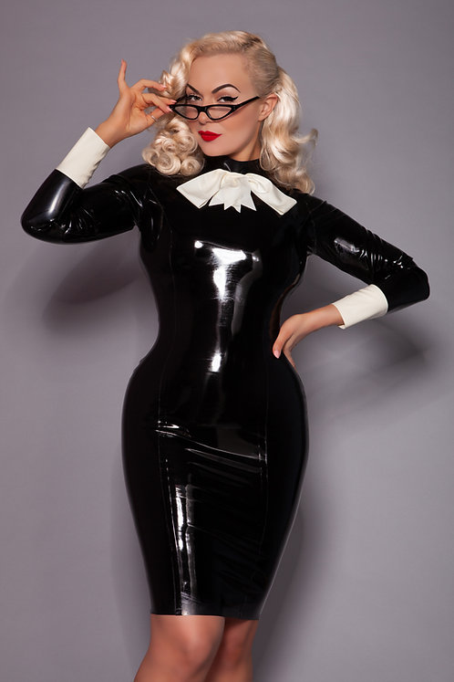 Latex Pussy Bow Dress