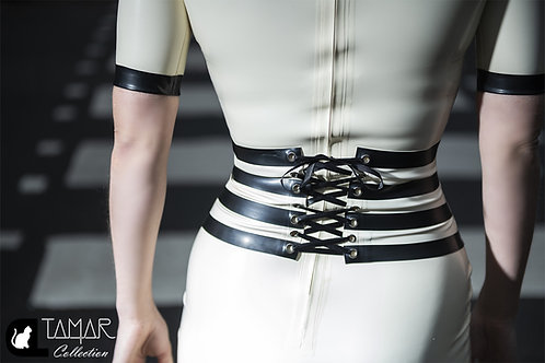 Latex Striped Belt