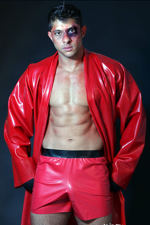 Latex Loose Boxers with Fly