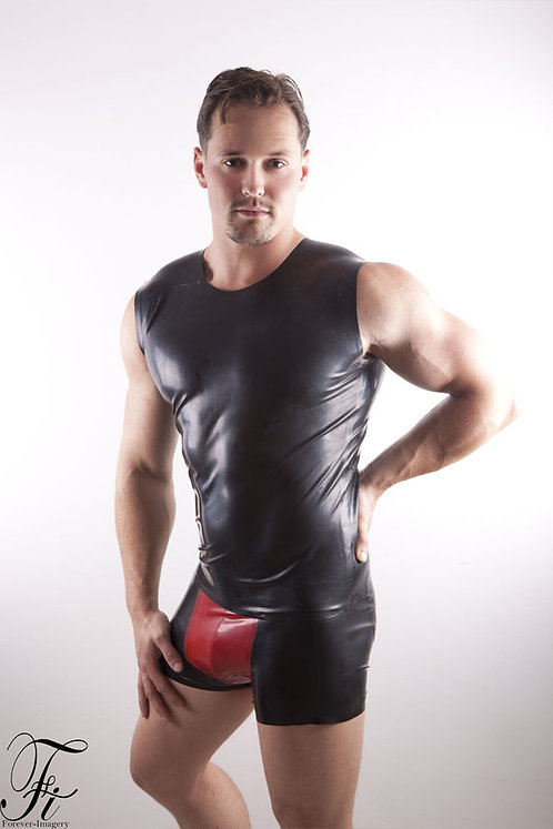 Contrast Latex Pouch Boxers
