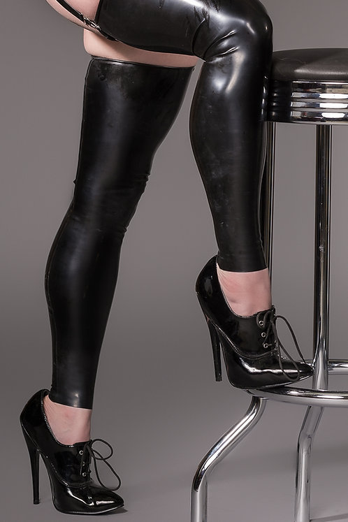 Latex Footless Stockings